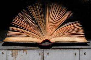 en öppen bok med alla dess blad