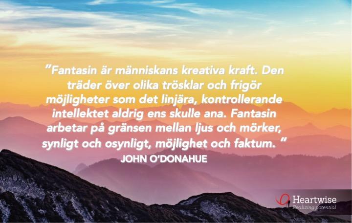 Fantasin är människans kreativa kraft.